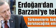Erdoğan'dan Barzani'ye tebrik