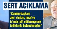 Erdoğan'ın sözlerine Gülen'den şok cevap
