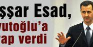Esed'den Davutoğlu'na cevap gecikmedi...