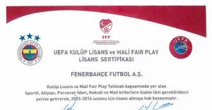 Fenerbahçe, UEFA'dan mali fair play lisansı aldı
