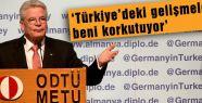 Gauck, ODTÜ'de hükümeti eleştirdi