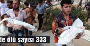 Gazze'de ölü sayısı 333