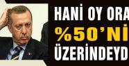 HANİ OY ORANIN %50'NİN ÜZERİNDEYDİ!