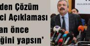 HDP'den Çözüm Süreci Açıklaması...