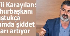 HDP'li Karayılan: Cumhurbaşkanı konuştukça toplumda şiddet olayları artıyor