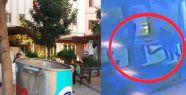 Hırsızlar çöp konteynerinin kapağını çaldı