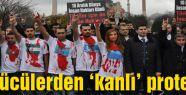 """İstanbul Ülkü Ocaklarından """"KANLI"""" poretesto"""