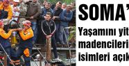 İşte Soma'da  hayatını kaybedenlerin isim listesi