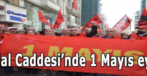 İstiklal Caddesi'nde 1 Mayıs eylemi