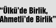 """Kadınlar,""""Ülkü'de Birlik, Ahmetli'de Birlik"""" dedi."""