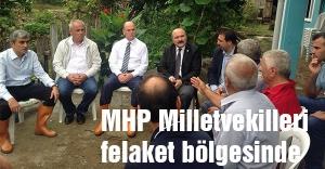 Karadeniz'deki MHP Milletvekilleri felaket bölgesinde