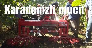 Karadenizli çiftçi fındık toplama makinesi imal etti