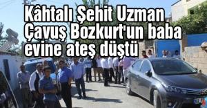 Kütahyalı Şehit Bozkurt'un baba evine ateş düştü