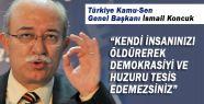 Koncuk; Türkistan ve Türkmeneli içinde hassasiyet gösterilsin