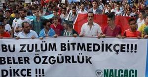 Konya'da Çin protesto edildi...