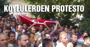 Köylülerden Protesto...