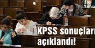 KPSS sonuçları açıklandı...