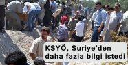 KSYÖ, Suriye'den daha fazla bilgi istedi