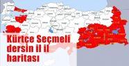 Kürtçe Seçmeli dersin il il haritası