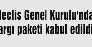 Kurul'da yargı paketi kabul edildi