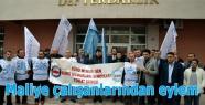 Maliye çalışanlarından eylem
