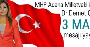 MHP Adana M. Adayı Çardak'tan 3 Mayıs Türkçülük Mesajı