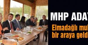 MHP Adayları Muhtarlarla kahvaltıda buluştu
