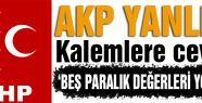 MHP AKP yanlısı kalemlere cevap verdi