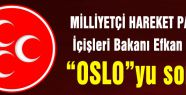 MHP Ala'ya OSLO'yu Sordu!