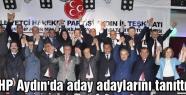 MHP Aydın'da aday adaylarını tanıttı