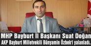 MHP Doğan'dan AKP'li milletvekiline yalanlama