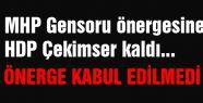 MHP Gensoru Önergesine HDP Çekimser kaldı...