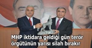 MHP iktidara geldiği gün terör örgütünün yarısı silah bırakır