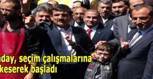 MHP'li aday, seçim çalışmalarına kurban keserek başladı