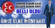 MHP Samsun-Atakum Belediye Başkan Adayı Belli Oldu