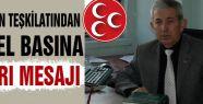 MHP Samsun Teşkilatından Uyarı!