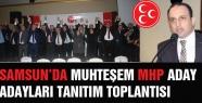 MHP Samsun'da Milletvekili A.Adaylarını tanıttı