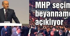MHP Seçim Beyannamesini Açıklıyor...