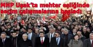 MHP Uşak'ta mehter eşliğinde seçim çalışmalarına başladı