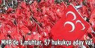 MHP'de 1 muhtar, 57 hukukçu aday var
