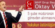 MHP'den Müdürlerin görevden alınmasına tepki!