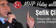 MHP'li Çirkin: İhsanoğlu yorumum yanlış anlaşıldı