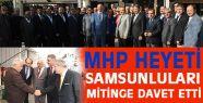 MHP'li Heyet, Kurtuluş Mitingine Çağrı Yaptı