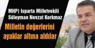 MHP'li Korkmaz Isparta'da konuştu...