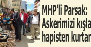 MHP'li Parsak: Askerimizi kışlalara hapisten kurtaracağız