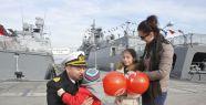 Milli gemi TCG Büyükada törenle 3 aylık sefere uğurlandı