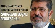 Mursi'ye 'Sokakları boşalt serbest kal'