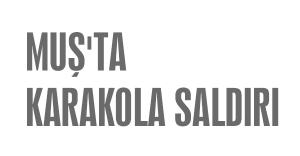 MUŞ'TA KARAKOLA SALDIRI