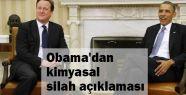 Obama'nın Kimyasal Silah Açıklaması