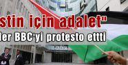 Onbinler BBC'yi protesto ettti